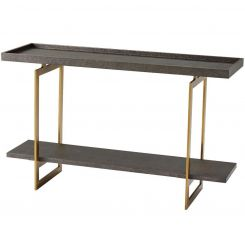 Theodore Alexander Console Table Walker - Brushed Brass Finish