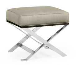 Jonathan Charles Stool Military in Stainless Steel - Mazo