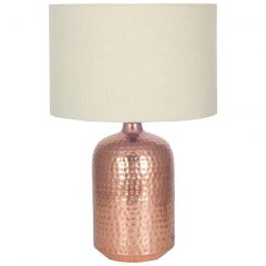 Pacific Lifestyle Copper Hammered Table Lamp And Shade