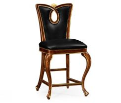 Jonathan Charles Counter Stool Biedermeier in Mahogany