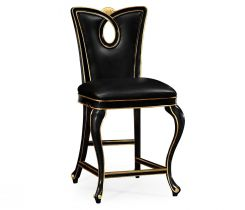 Jonathan Charles Counter Stool Biedermeier in Black