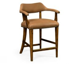 Jonathan Charles Counter Stool Library - Light Brown Leather