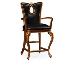 Jonathan Charles Counter Chair Biedermeier in Mahogany