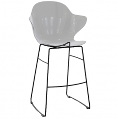Calligaris Counter Stool St Tropez in Transparent Grey