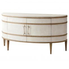 Theodore Alexander Curved Cabinet Brandon - Champagne Textured Coral
