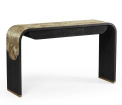 Jonathan Charles Curved Console Table Chinoiserie Style