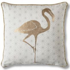 Pavilion Chic Cushion Flamingo Tropical in Gold