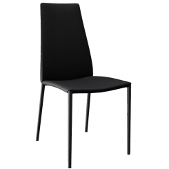 Calligaris Dining Chair Aida in Black Faux Leather