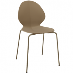 Calligaris Dining Chair Basil in Beige Nougat