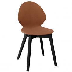 Calligaris Dining Chair Basil in Cognac Regenerated Leather