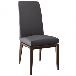 Calligaris Dining Chair Bess in Grey Faux Leather