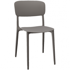 Calligaris Dining Chair Liberty in Grey Taupe