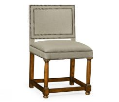 Jonathan Charles Dining Chair Louise XIII Warm Chestnut