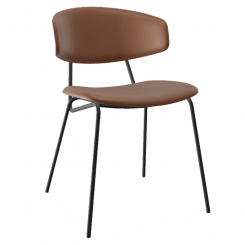 Calligaris Dining Chair Sophia in Tobacco Faux Leather