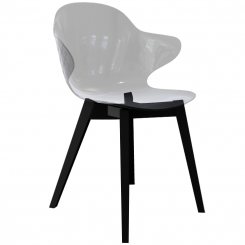 Calligaris Dining Chair St Tropez in Transparent Grey