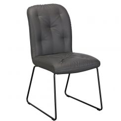 Pavilion Chic Dining Chair Tina in Grey PU Leather