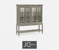 Jonathan Charles Double Display Cabinet Rustic