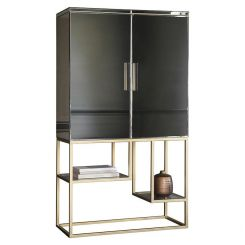 Pavilion Chic Drinks Cabinet Tottori - Gold Frame