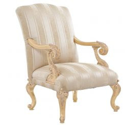 Duresta Gustav Chair in Wendover Stripe Soft Gold