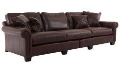 Duresta Clearance New Plantation Grand Split Sofa Special Size in Clyde Chestnut