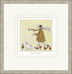 Pavilion Art Egg and Spoon by Sam Toft - Limited Edition Framed Print