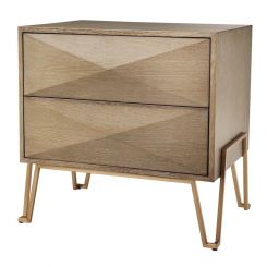 Eichholtz Bedside Table Highland Washed Oak Veneer