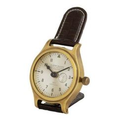Eichholtz Clock Marine Master in Brown Leather