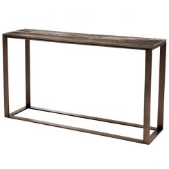 Eichholtz Console Table Zino with Bronze Wood Effect Top