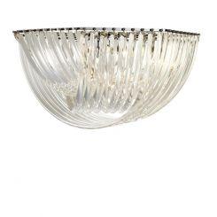 Eichholtz Flush Ceiling Light Hyeres in Clear Acrylic