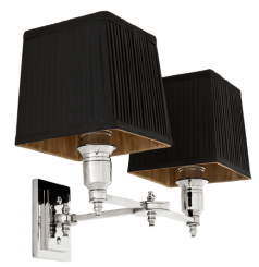Eichholtz Lamp Lexington Nickel Including pleated black shade