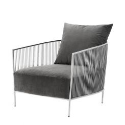 Eichholtz Occasional Chair Knox with Steel Arm Metallic