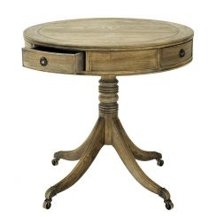 Eichholtz Round Side Table Marriot in Smoked Oak