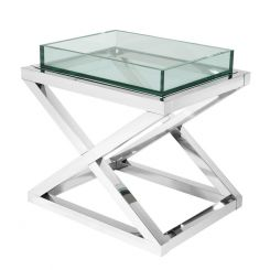 Eichholtz Side Table Curtis in Stainless Steel