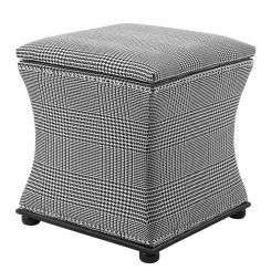 Eichholtz Stool Austin in Black & White