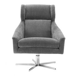 Eichholtz Swivel Chair Nara Upholstered in Grey