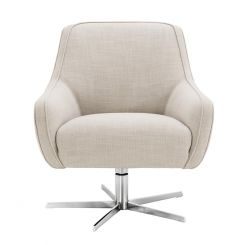 Eichholtz Swivel Chair Serena Upholstered in Polyester