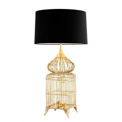 Eichholtz Table Lamp La Cage with Black Shade