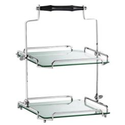Eichholtz Serving Tray West End Double Tiered in Glass
