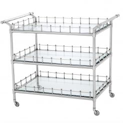 Eichholtz Trolley Scarlett Bevelled Clear Glass