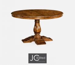 Jonathan Charles Extending Round Dining Table Rustic