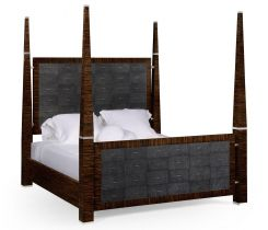 Jonathan Charles Four Poster Bed Deco in Macassar Ebony