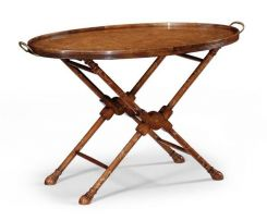 Jonathan Charles Oval Serving Tray on Stand Monarch