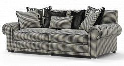 Duresta Frasier 3 Seater Sofa Hepburn Nero