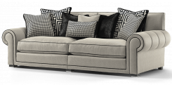 Duresta Frasier 4 Seater Sofa Audrey Nero