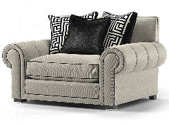 Duresta Frasier Loveseat Audrey Nero