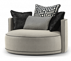 Duresta Frasier Swivel Chair Audrey Nero