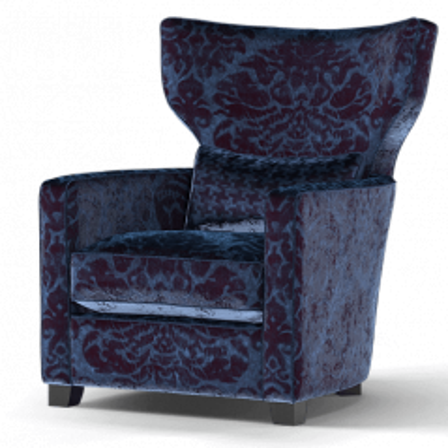 Duresta Frasier Wing Chair Como Damask Royal