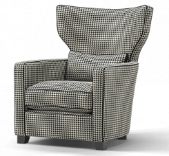 Duresta Frasier Wing Chair Hepburn Nero