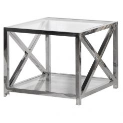Pavilion Chic Glass End Table Fort