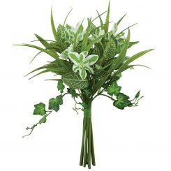 Pavilion Flowers Artificial Fittonia & Euphorbia & Ivy Mix Green Height 30cm